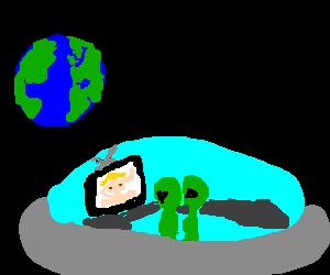 Alien observers find the late night channels