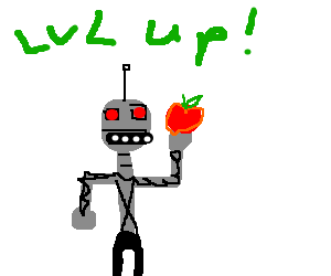 Robot levels up from apple