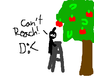 Ninja struggles to steal apples