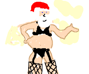Santa Plays In The Rocky Horror Picture Show Drawception
