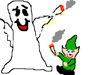 Ghost smoking weed