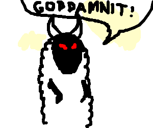 Devil Sheep is angry