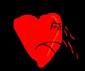 Heart cries blood
