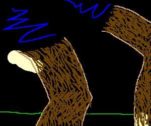 mustachioed runner with abnormal leg hair