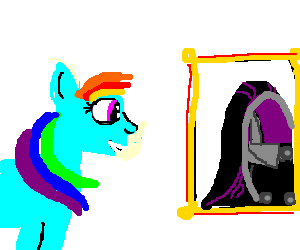 Rainbow Dash clops to pics of Tali vas Normandy