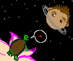 head planet gets directions from turtle blossom