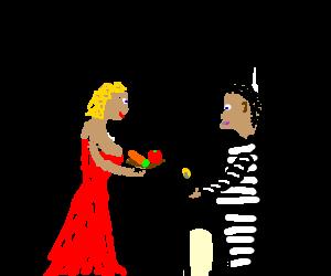 Scarlett Johansson feeds black prisoners