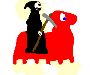 0c8fba5ff death is happy with his horse,