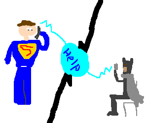 Superman calls Batman for help him