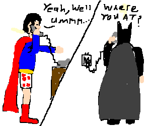 Superman tells batman he lost his pants