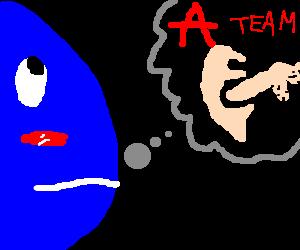 A Blue man thinks the A team sucks