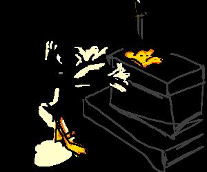 Daffy Duck offers own beak as pagan sacrifice