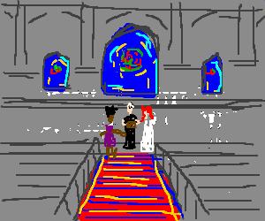 Cross dressing black man marries ginger