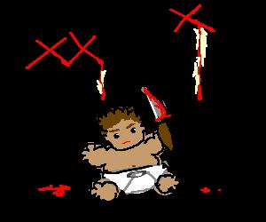 A fat baby assassinates JFK.