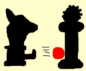 Chess knight kick soccer vs queen goalie