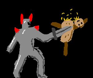 Demon Knight Kills Scarecrow