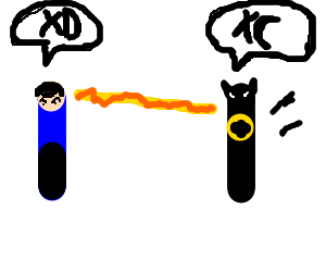 Spock winning a fight against terminator