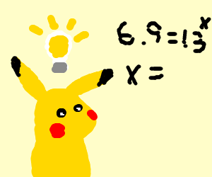 Pikachu figures out what 6x9 = in base13