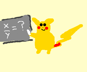 Pikachu does algebra.