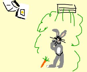 GLaDOS sprays Bugs Bunny w/neurotoxin