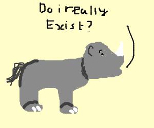 Rhino ponders his existence