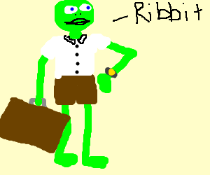 Frog going to work