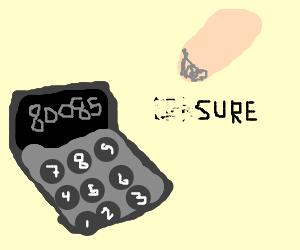 Calculator Seducing Eraser