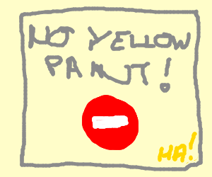Yellow paint in restricted zone