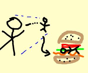 Shrunken kid ends up in BLT sandwich