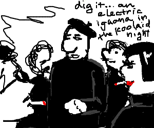 Beatnik poetry slam