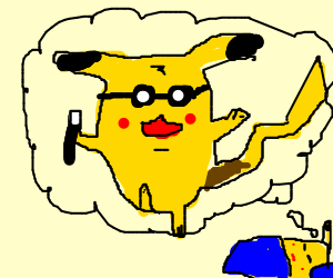 Pikachu wishes he was harry poter