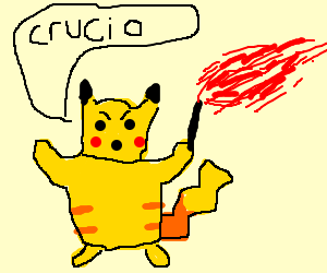 angry wizard pikachu