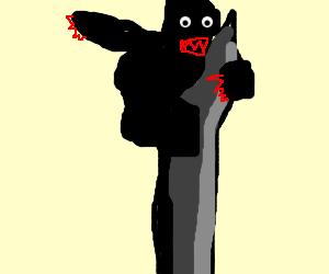 demon king kong climbs crumbling buildin