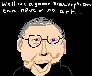 Ebert reviews Drawception game
