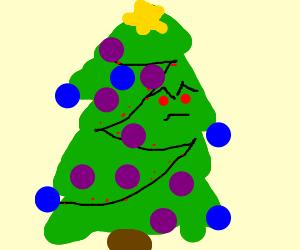 An Angry Christmas tree