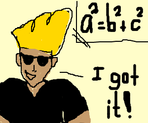 Johnny Bravo FINALLY learned math.