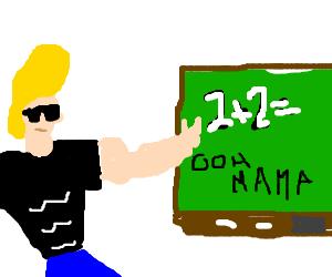 Johnny Bravo teaches math