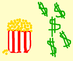 Movie theater popcorn is expensive!