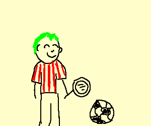 green haired sanderland fan with mirror