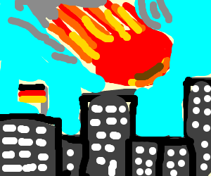 German city hit by giant meteor