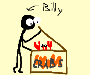 Billy realizes he has crabs.