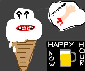 Cannibalistic icecream during happy hour