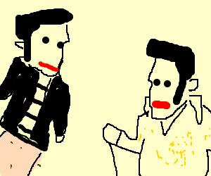 Elvis puppet show.