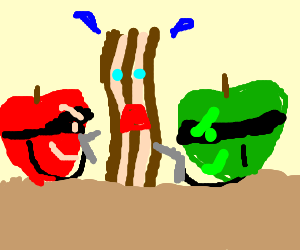 Bacon mugged by gang apple