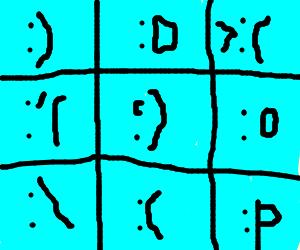 brady bunch squares emoticons