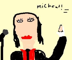Mickel Jackson rmoves nose for press