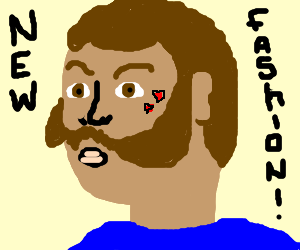 mutton chops and hearts= new fashion