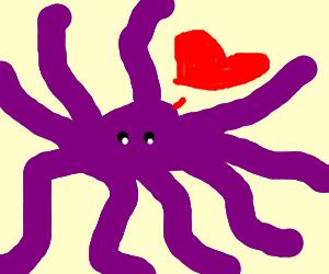 purple octopus love
