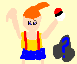 Misty's first pokeball with random pkmn