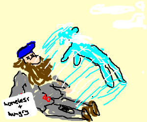Homeless hobo spirit